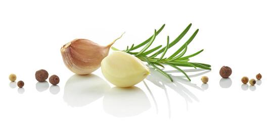 Garlic, rosemary and pepper