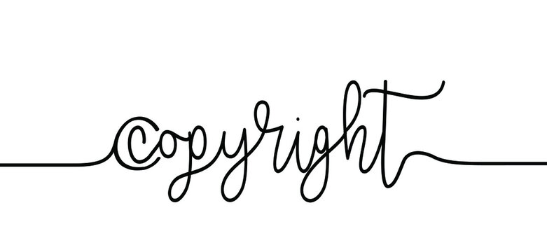 Definition of the word Copyright in a dictionary. This is the exclusive right of the maker of a work to publish or reproduce that work. Flat vector sign. Close up, macro of the word copyright law day.