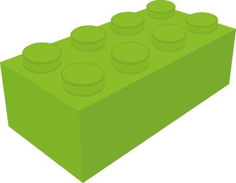 Vector emoticon illustration of a toy brick block