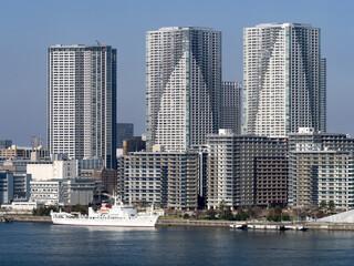 Fototapete - 東京都 晴海埠頭の高層マンション群