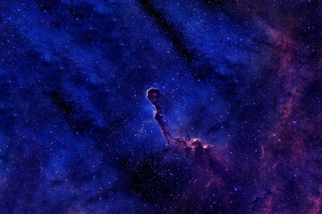 Colored beautiful galaxy. Elements of this image were furnished by NASA.