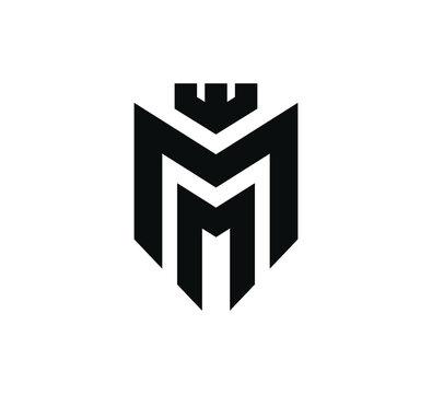 Strong Geometric Letter M logo template.M logo design.