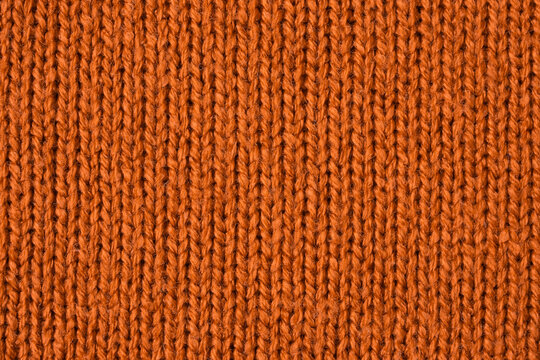 Brown knitted wool texture background