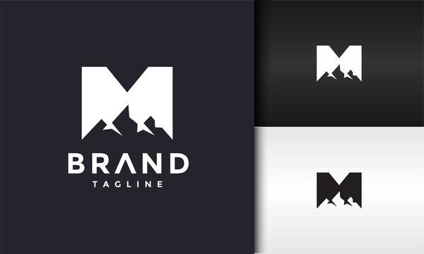 initials M mount logo