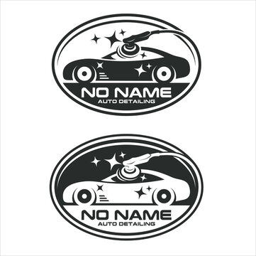 badge logo template for auto detailing service