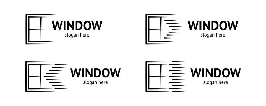 Elegant window logo