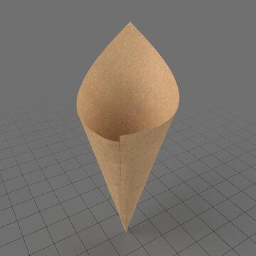 Cone paper food bag