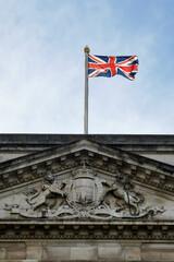 British union jack flag on a building - fototapety na wymiar