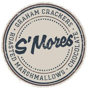 Vintage S'mores Campfire Treat Stamp