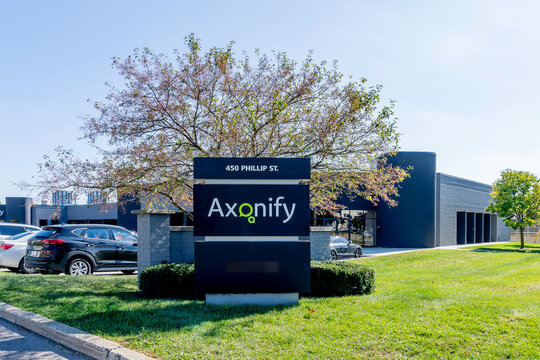 Waterloo, Ontario, Canada - September 30, 2019: Axonify Inc head office in Waterloo, Ontario, Canada. Axonify Inc is a rapidly growing B2B SaaS company and a leader in the microlearning