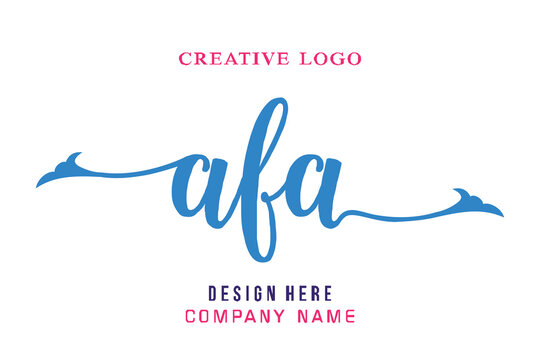 AFA lettering logo is simple, easy to understand and authoritative
