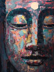 Buddha . Oil painting