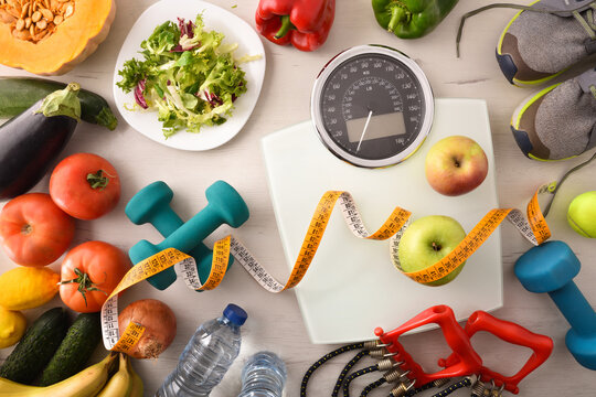 Sports and nutritional equipment for healthy life and lose top