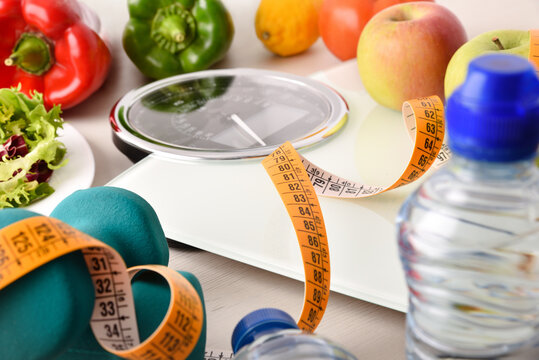 Sports and nutritional equipment for healthy life and weightloss elevated