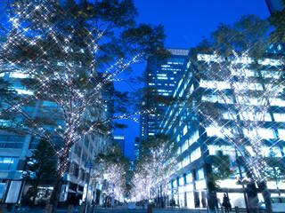 Fototapete - 東京都 丸の内仲通りのイルミネーション