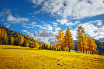 Wall Mural - Spectacular alpine peak Durrenstein in sunny day. Location place Dolomiti alps, province of Bolzano - South Tyrol