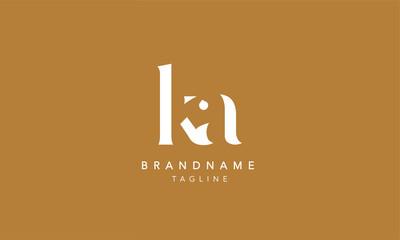 Obraz KA Lowercase Letter Initial Icon Logo Design Vector Illustration - fototapety do salonu