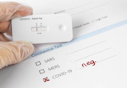 Corona Test - Auswertung - Testung ist negativ