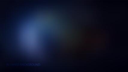 Obraz Blue, dark blurred background vector illustration - fototapety do salonu