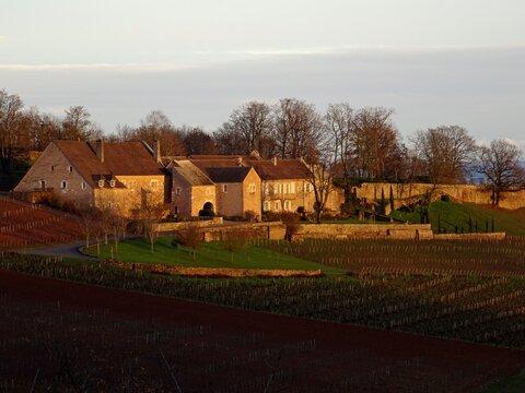 Paysage et architecture dans la Côte Chalonnaise.
