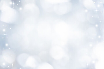 abstract blur white and silver color background with star glittering light for show,promote and...