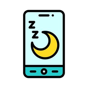 Sleep tracker App icon, Mobile application vector illustration