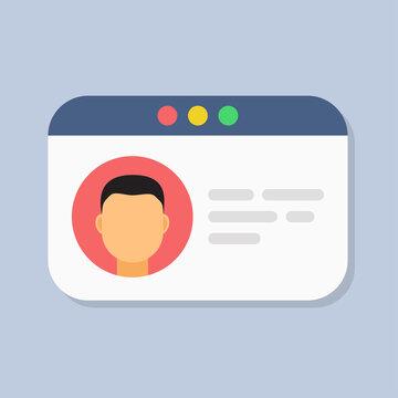 User authorization, login authentication page concept. Flat vector illustration. Business vector illustration. Data management. Data secure.
