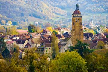 Arbois town in France - fototapety na wymiar