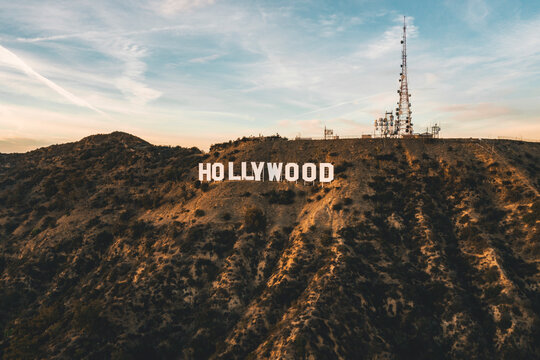 Circa November 2019: Famous Hollywood Sign in Mount Lee in Los Angeles, California