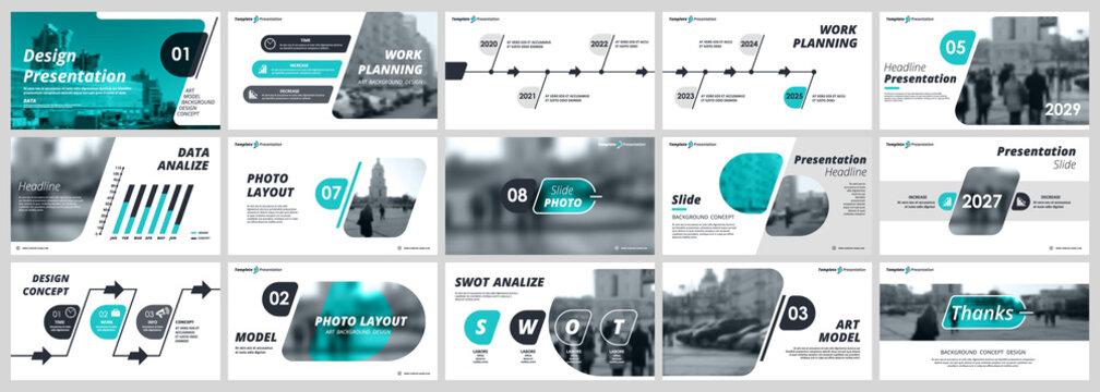 Abstract white, green slides. Brochure cover design. Fancy info banner frame. Creative set of infographic elements. Urban. Title sheet model set. Modern vector. Presentation templates, corporate.