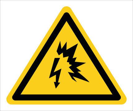 Electric arc warning sign,Draw from Vector Illustration.