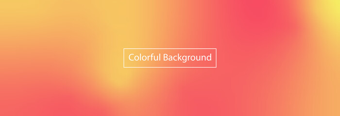 Obraz Abstract blurred gradient mesh background in bright red, orange colors. Colorful smooth banner template - fototapety do salonu