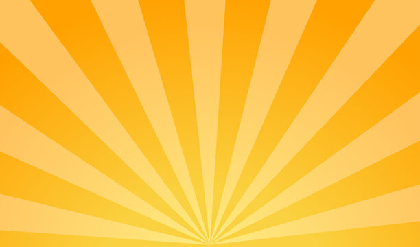 Bright background of sun rays with yellow dots. Abstract background with halftone dots design. Vector illustration.