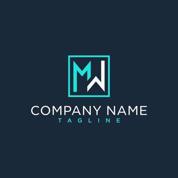 MW,WM,initial logo design inspiration
