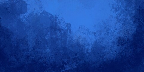 Sfondo banner azzurro blu turchese scuro chiaro al centro. Texture grunge vintage. Freddo. Trama nuvolosa e grunge marmorizzato, nebbia morbida e illuminazione nebulosa. Fotobehang