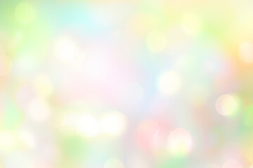 Obraz Soft colorful spring blurred background,glowing natural Easter holiday wallpaper.Abstract green blue yellow bokeh. - fototapety do salonu