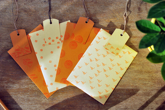 Envelopes with tags on the old table