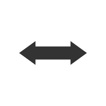 Double arrow icon. 2 side arrow sign