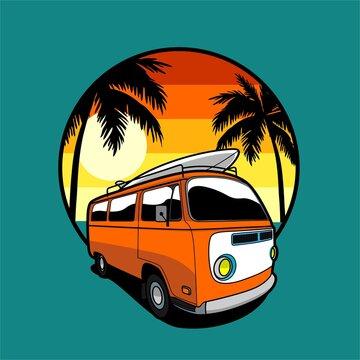 Summer Van Illustration