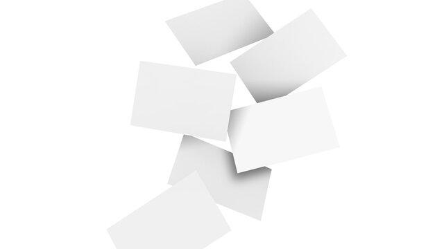Gravity Business Card Scene Mockup