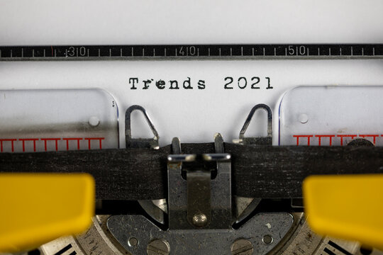 Trends 2021 written on an old typewriter