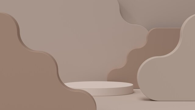 Abstract 3D set design, stage for product visualization. Product placement.