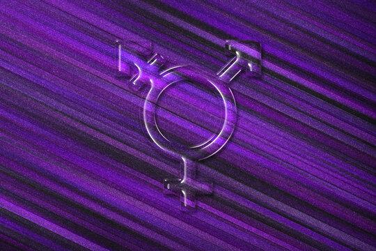 Transgender symbol, combining gender symbol