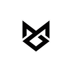Fototapeta m g mg gm initial logo design vector template obraz