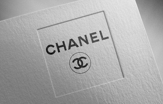 Chanel logo icon paper texture