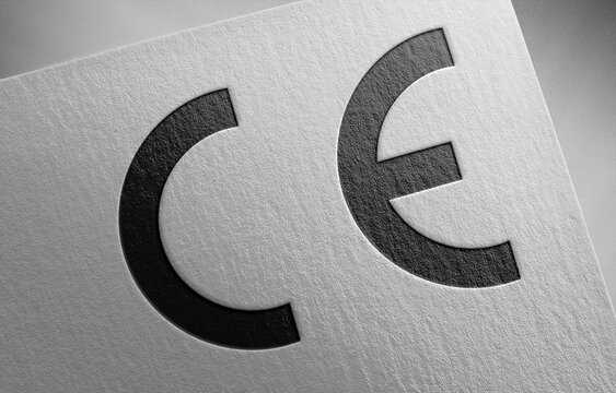 CE mark logo icon paper texture