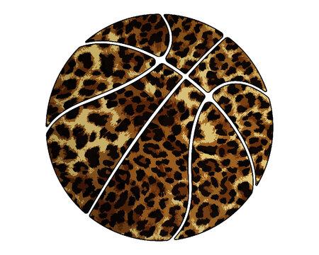 Basketball Leopard EPS, Basketball Sublimation Designs Downloads, Cheetah Sublimation Download, Basketball EPS, Digital File Download