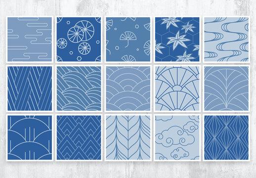 Modern Asian Style Patterns Set