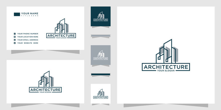 Architecture logo with business card template