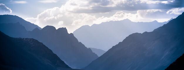 Snowy peaks, Himalayas, mountains, Zanskar, Ladakh, Tibet